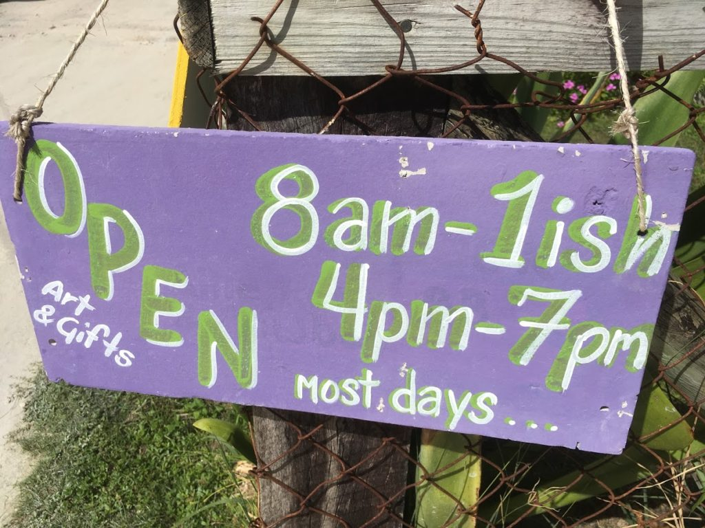 shop opening times 9am-1ish most days