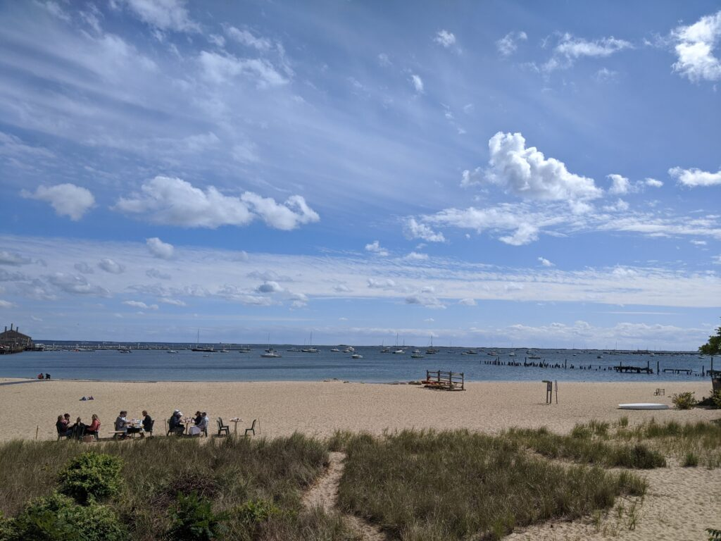 View of a New England beach as we celebrated our engagement